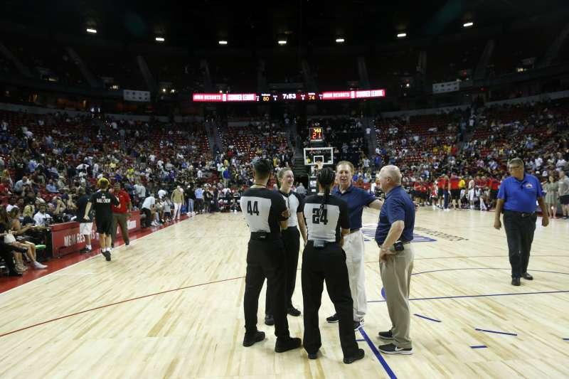 2019年7月5日,美國南加州發生芮氏規模7.1大地震,美國職籃NBA夏季聯盟在賭城拉斯維加斯的比賽被迫中斷(AP)