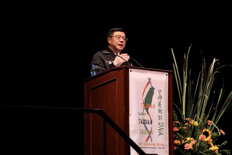 民進黨主席卓榮泰於5日(美東時間)受美東台灣人夏令會邀請,並於現場發表演說。(民進黨中央提供)