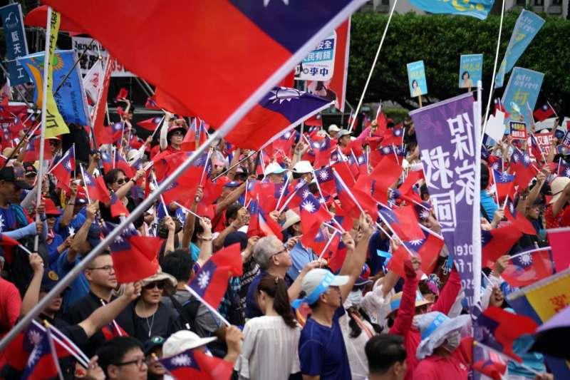 國民黨「反鐵籠公投」凱道會師 萬人齊呼「還我公投!」-風傳媒
