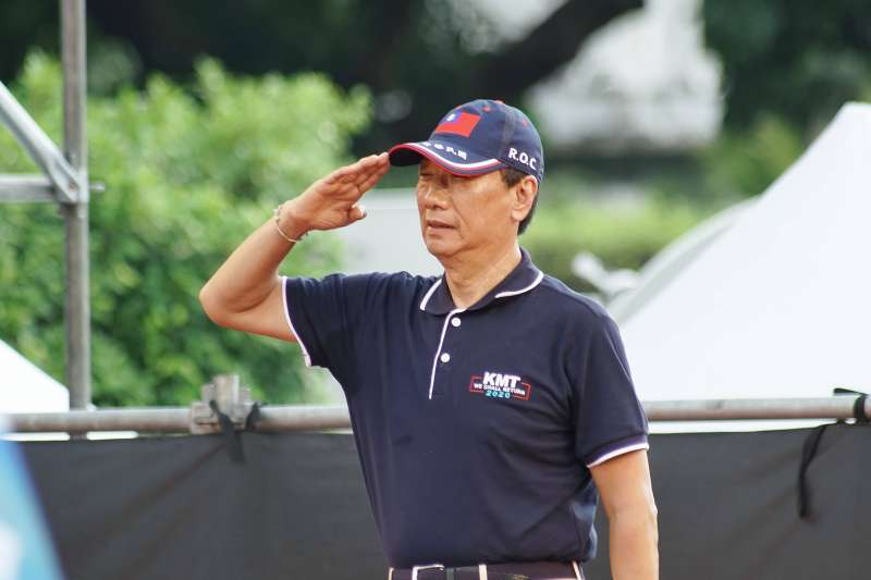 20190707-郭台銘出席反鐵籠公投凱道大會師。(盧逸峰攝)