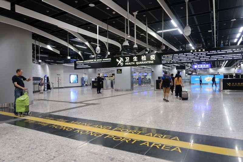 「廣深港高速鐵路」西九龍站的內地口岸區(Wpcpey@Wikipedia / CC BY 4.0)