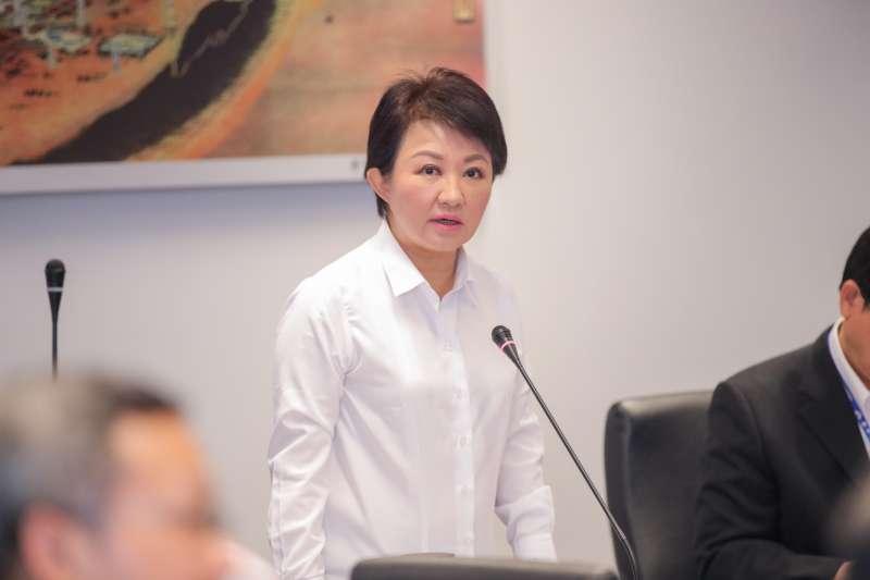 台中市長盧秀燕主持台中低碳城市推動委員會第一次會議時,提出三大主要工作目標。(圖/臺中市政府提供)