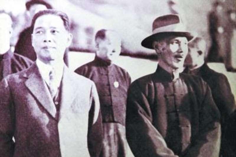 20190709-汪精衛(左)、前總統蔣介石。