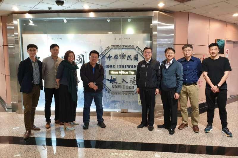 20190709-民進黨主席卓榮泰率團的「永續台灣,民主夥伴」訪美行9日結束。(民進黨中央提供)