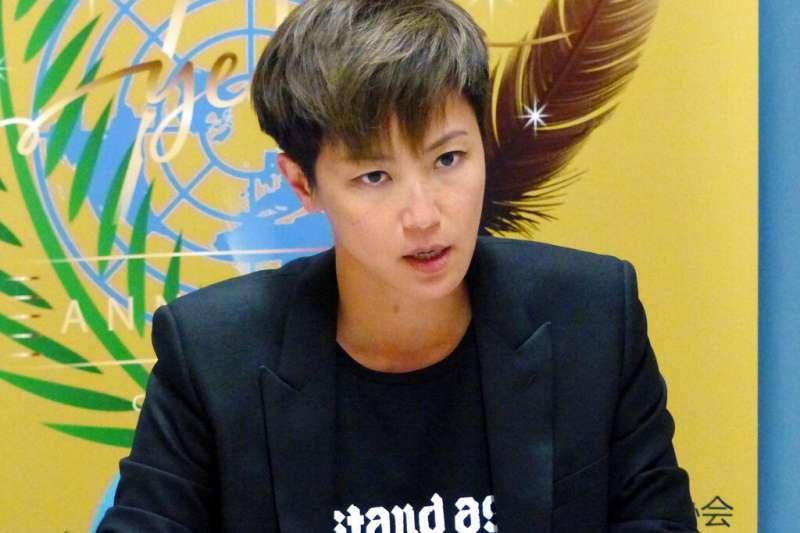 香港歌手何韻詩。(美聯社)