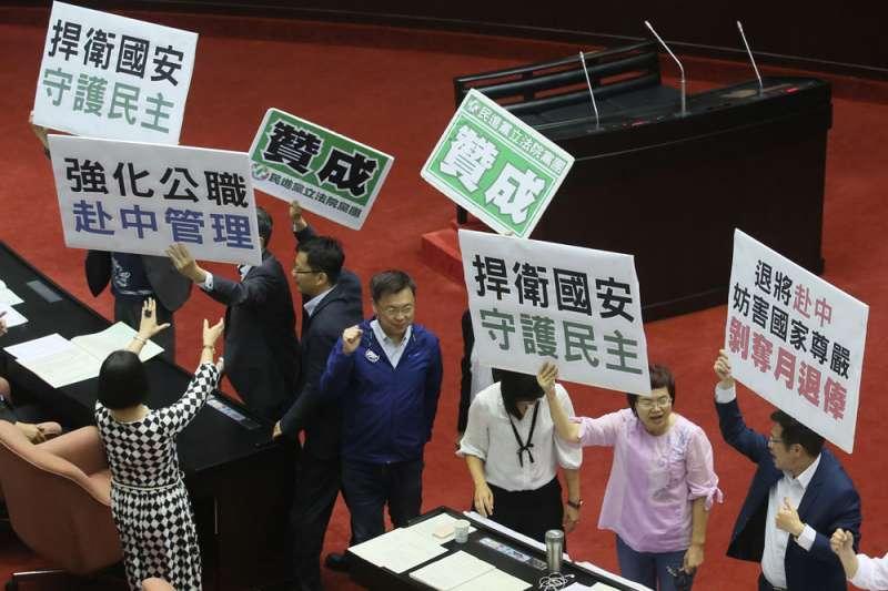 立院由民進黨團主導,在剛結束的會期通過「國安五法」。(柯承惠攝)
