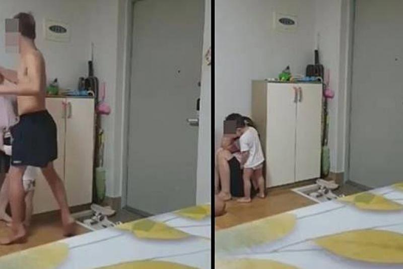 南韓男子暴力毆打越籍妻子,引發社會公憤。(取自You Tube)