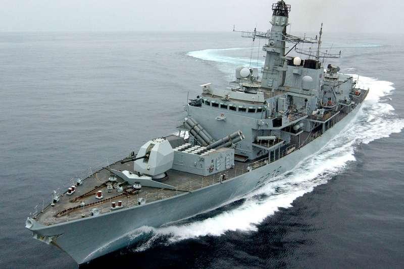 英國皇家海軍戰艦「蒙特羅斯公爵號」(HMS Montrose)巡防艦(圖取自維基百科;作者:POA Mick Storey/MOD,OGL v1.0)