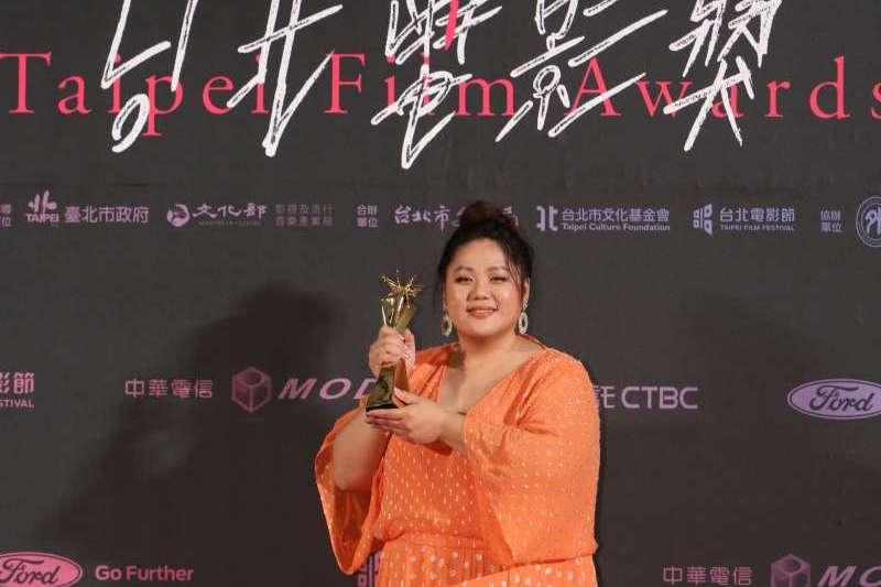 台北電影獎最佳新演員獎由蔡嘉茵以《大餓》拿下,她在致詞時表示,希望她的存在,能讓創作者思考作品時,有更多元的可能性。(台北電影節提供)