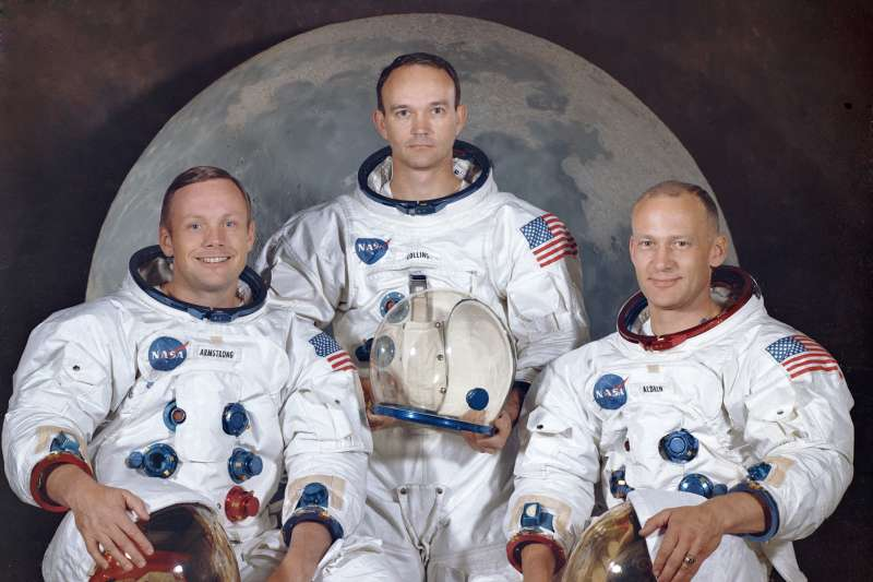 1969年3月30日,阿波羅11號登月任務太空人,左起:阿姆斯壯(Neil Armstrong)、柯林斯(Mike Collins)、艾德林(Buzz Aldrin)(AP)