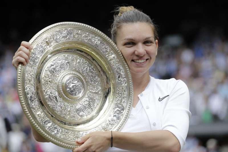哈勒普擊敗小威廉絲,奪下生涯首座溫網冠軍。 (美聯社)