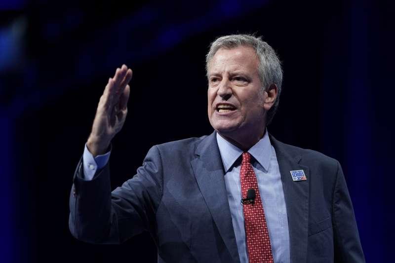美國紐約市長白思豪(AP)