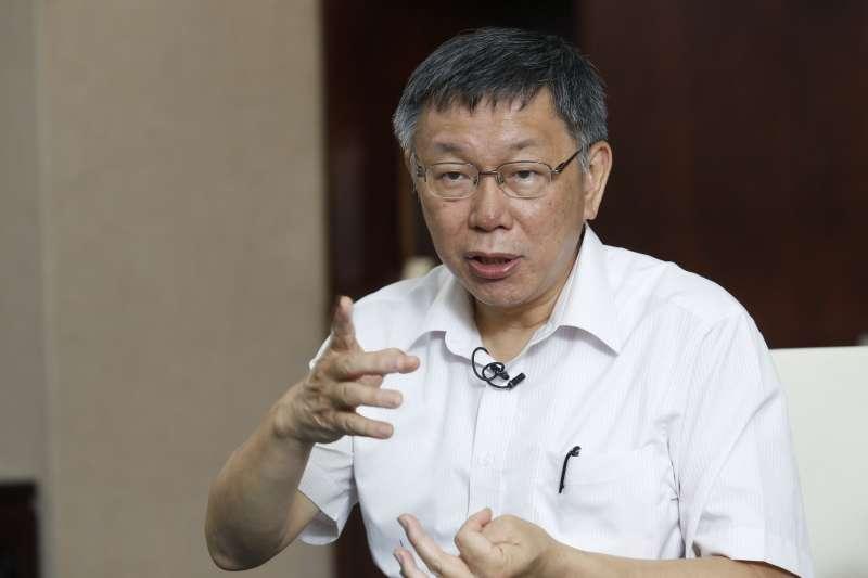 台北市長柯文哲最近左右開弓,駡盡藍綠。(郭晉瑋攝)