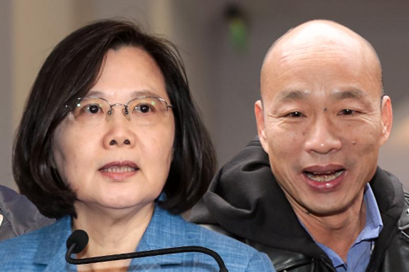 匯流民調》蔡英文支持度跌11個百分點 仍領先韓國瑜-風傳媒