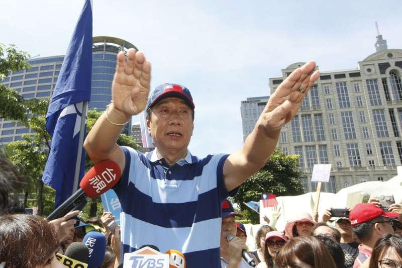 鴻海創辦人郭台銘(見圖)的陣營表示,過去20多年來,郭早已是國民黨黨務發展及選舉最大的資助者,因此談論「是否會留在黨內」,根本是看輕了郭。(新新聞資料照,郭晉瑋攝)