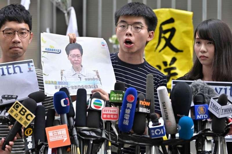 香港傳媒在這次《逃犯條例》條例修訂的爭議中扮演了重要角色。(AFP)