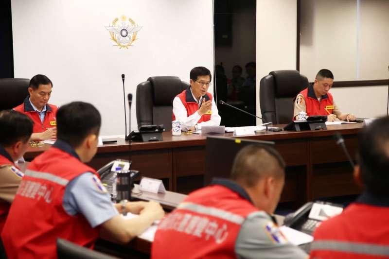20190717-國防部長嚴德發召開災防會議。(國防部提供)