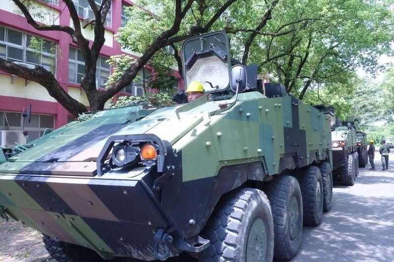 20190717-陸軍雲豹甲車預置。(陸軍提供)