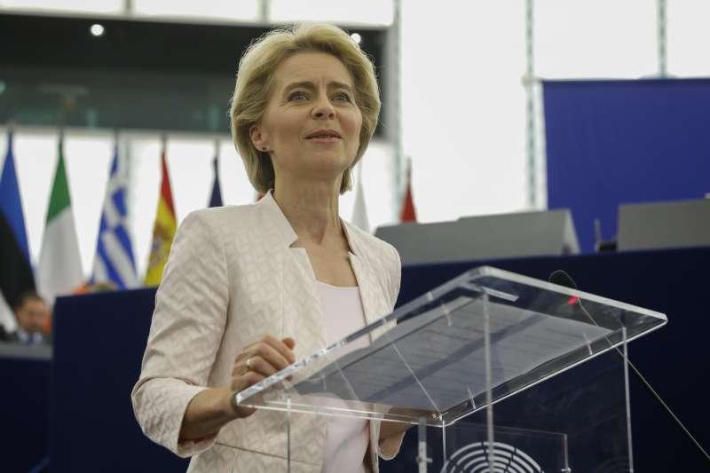 2019年7月16日,歐盟選出新任歐盟執委會主席馮德萊恩(Ursula von der Leyen)(AP)
