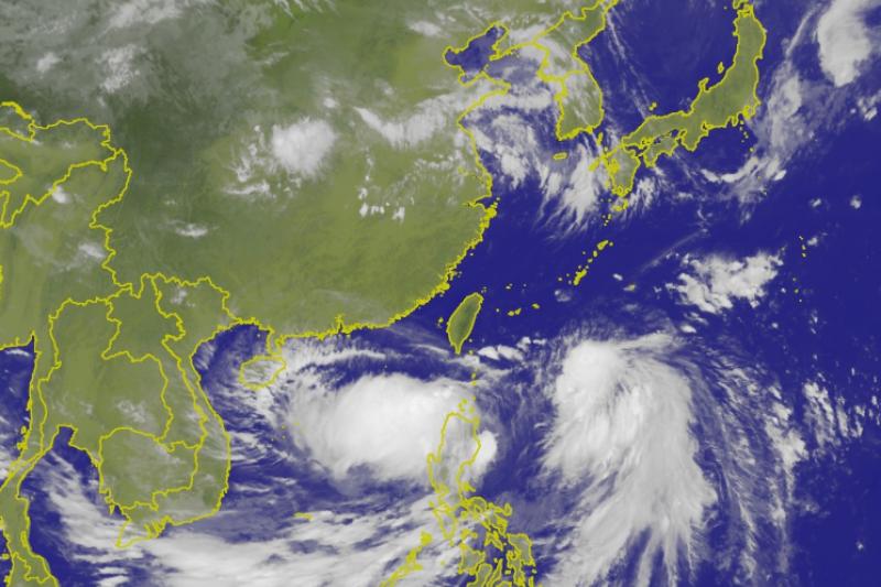伴隨氣候變遷的影響,颱風的走向、雨量、風速越來越難預測。(取自中央氣象局)