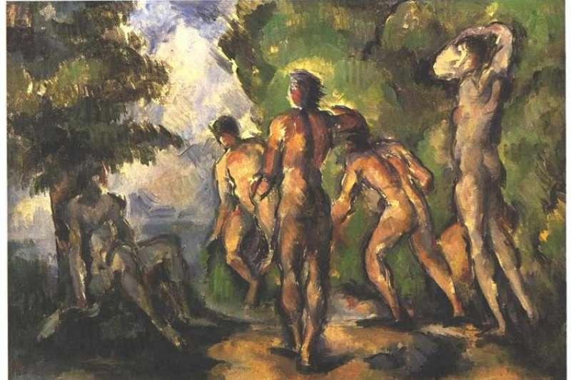 塞尚,《休憩的浴者》,1904年,收藏於奧塞美術館。(作者林意凡提供)