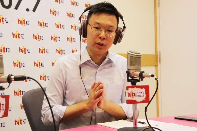 民進黨副秘書長林飛帆18日接受廣播專訪,談及入黨關鍵原因,林飛帆表示,台灣下一個階段的目標是打造「非韓家園」。(Hit Fm《周玉蔻嗆新聞》製作單位提供)