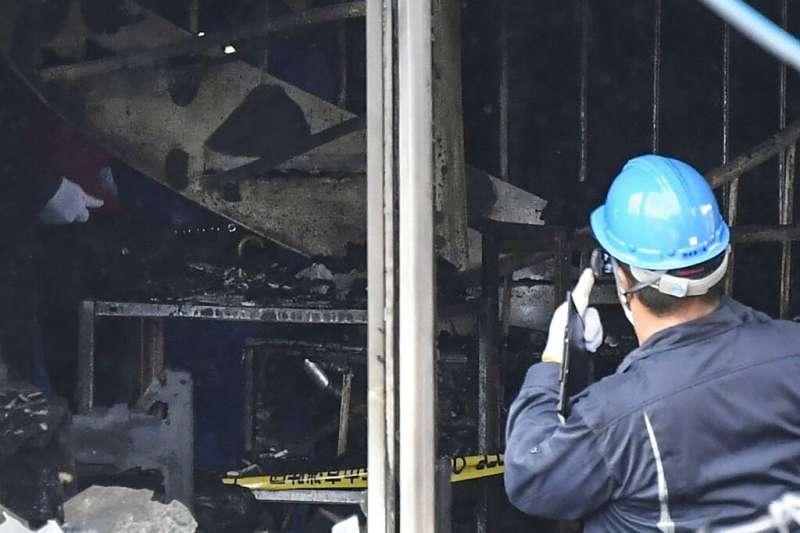 京都動畫公司18日陷入火海,釀成33死35傷的慘劇。(美聯社)