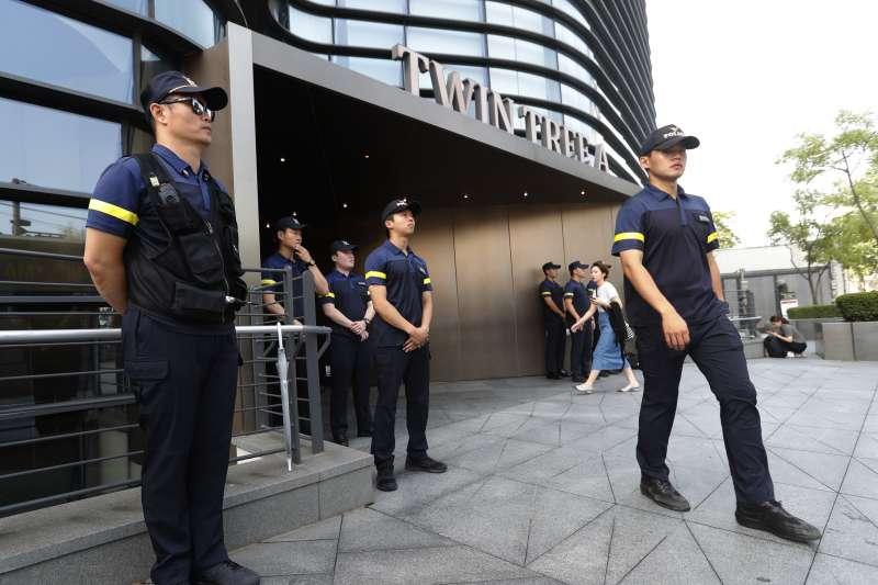 2019年7月,南韓與日本關係惡化,首爾日本大使館戒備森嚴(AP)