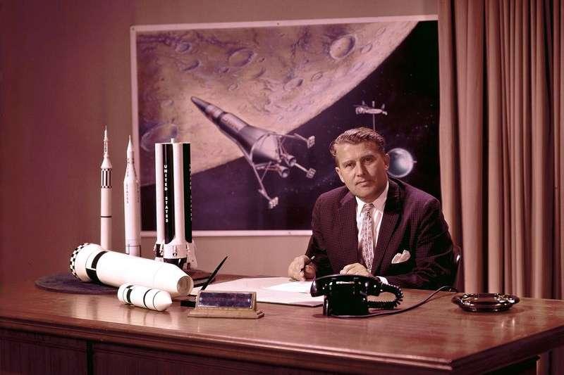 馮布朗是美國阿波羅11號任務成功登月的重要功臣(照片:NASA)