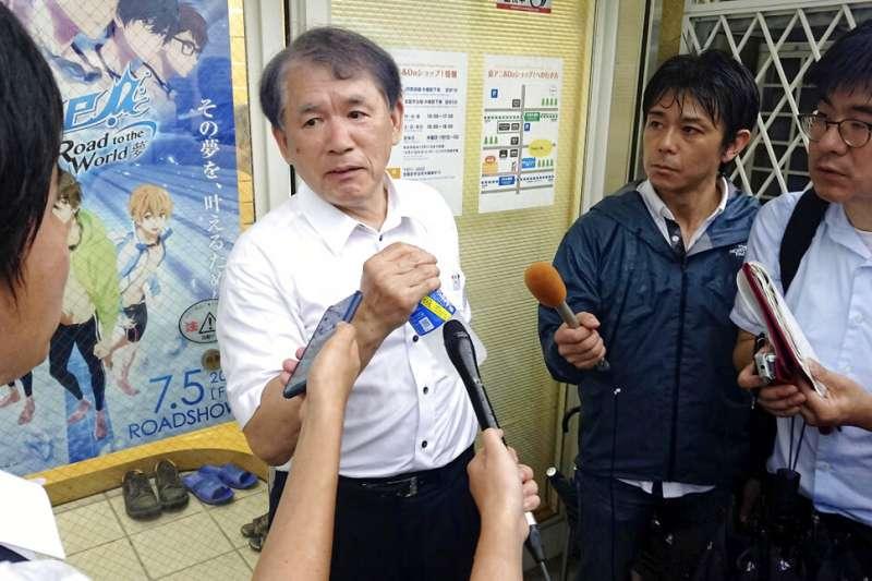 京都動畫第一工作室18日遭人縱火,釀成34死的憾事,京都動畫社長八田英明接受媒體訪問。(美聯社)