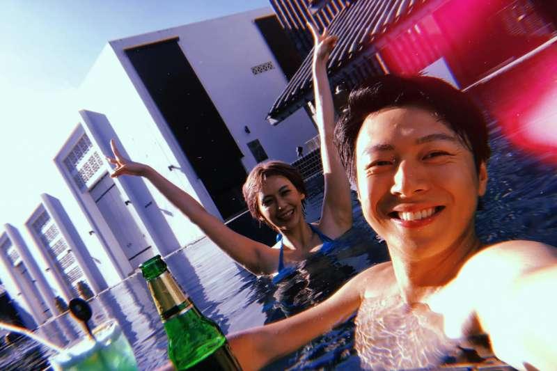 20190720-藝人袁艾菲(左)與老公老魚(右)。(取自袁艾菲臉書)