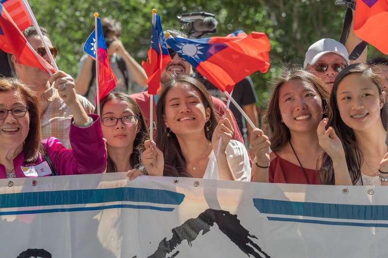 2019年7月19日,蔡英文總統出訪過境美國丹佛,受到僑胞熱烈歡迎(總統府)
