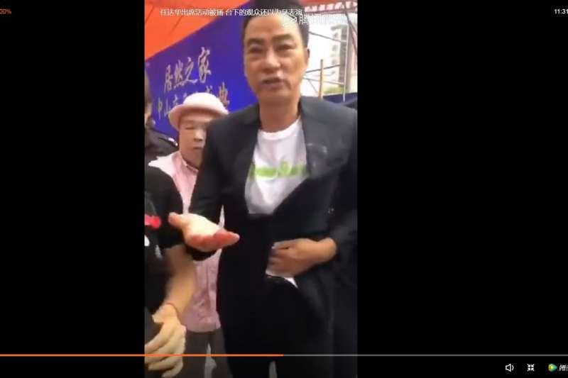 港星任達華出席廣東活動,竟遭陌生男子刺傷!(取自網路)