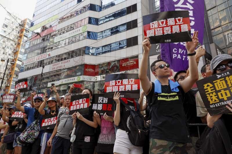 2019年7月21日,香港「反送中」民眾再上街頭。(美聯社)