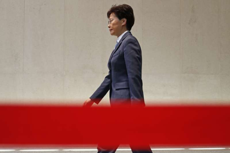 受北京力挺,林鄭月娥積極證明自己仍實質掌權。(AP)