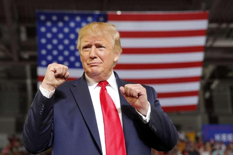 2019年7月17日,川普在北卡羅來納州格林維爾(Greenville)舉行造勢大會,砲轟4位少數族裔民主黨國會議員(AP)