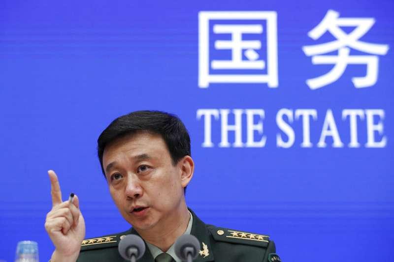 中國國防部新聞發言人吳謙警告「台獨只有死路一條」。(美聯社)