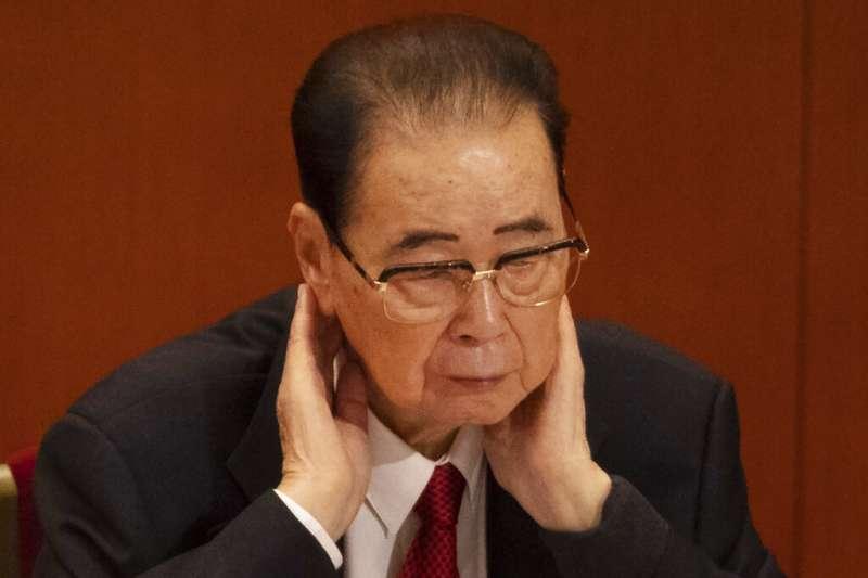 中國前總理李鵬。(美聯社)
