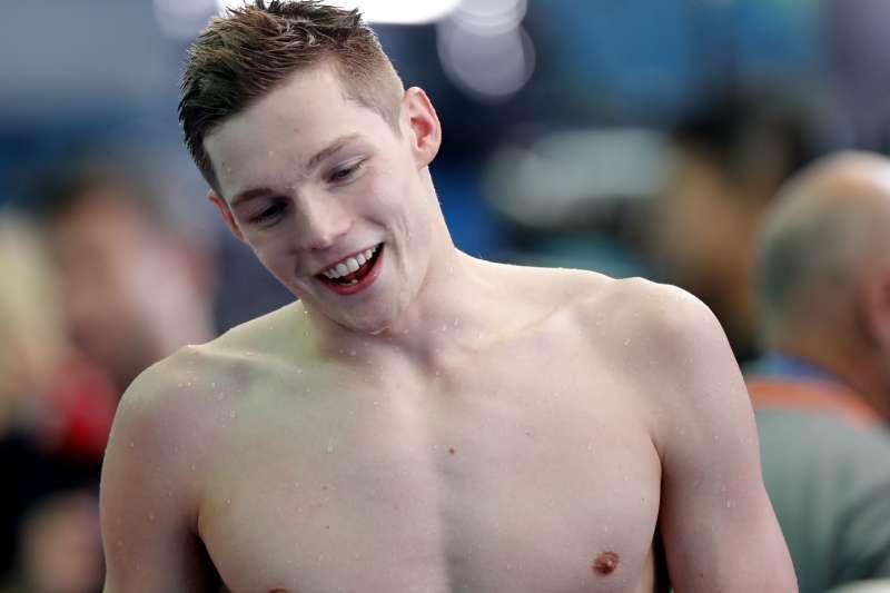 2019世界游泳錦標賽:英國選手史考特(AP)