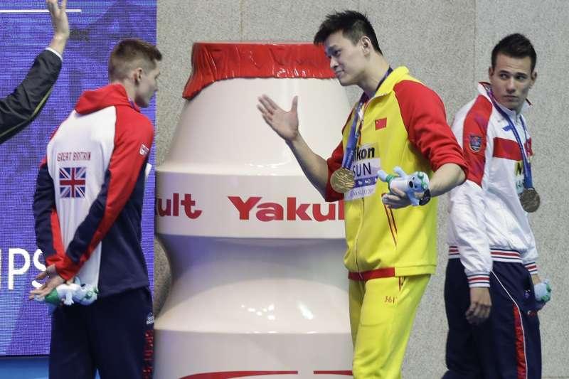 2019世界游泳錦標賽:中國選手孫楊嗆英國選手史考特是魯蛇(AP)
