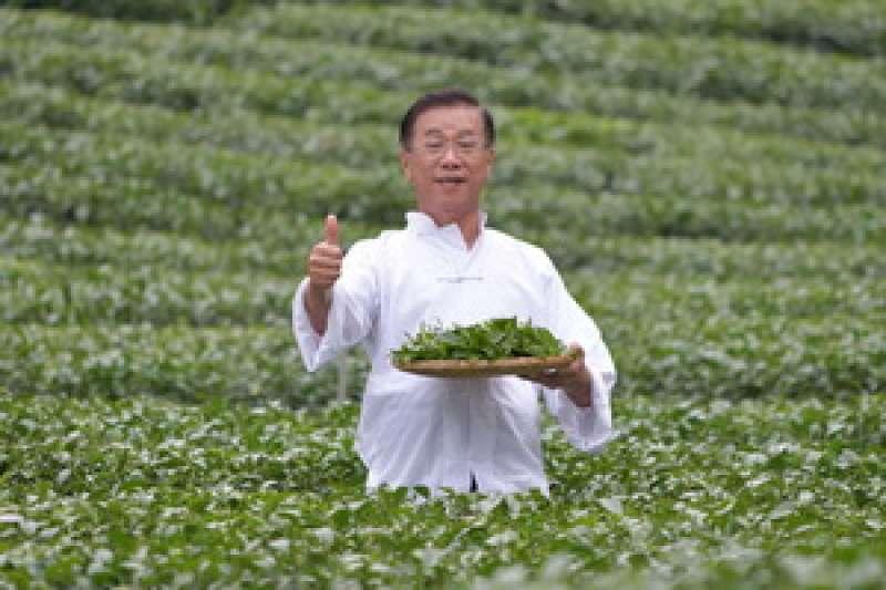 南投世界茶業博覽會宣傳廣告由南投縣長林明溱扮演「茶伯」帶領特務找好茶。(圖/南投縣政府提供)