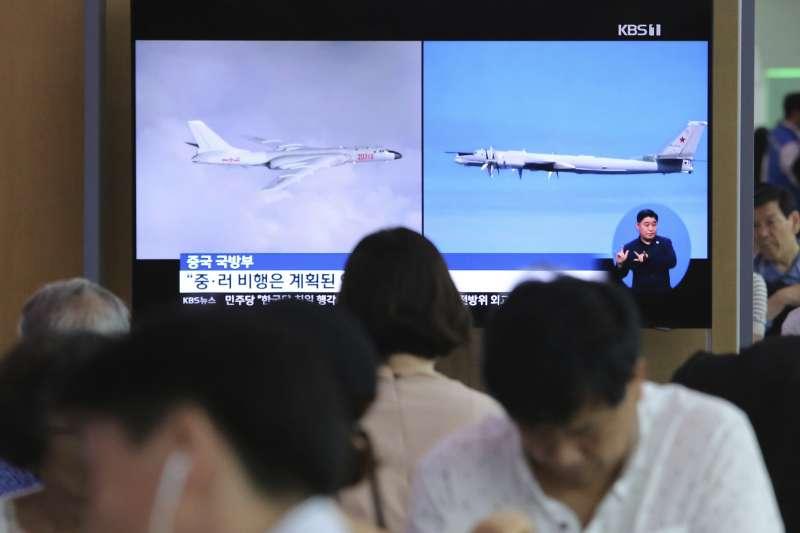 中俄軍機闖入日韓爭議的獨島(竹島)領空(AP)