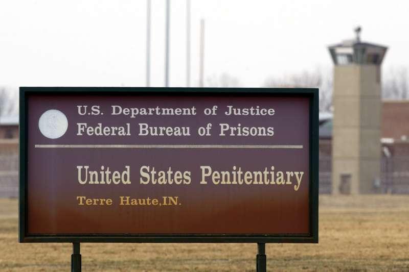 2003年3月,美國聯邦政府在印第安納州特勒荷特(Terre Haute)的監獄執行死刑(AP)