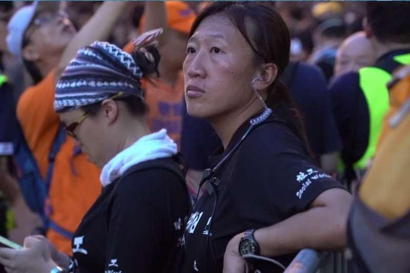 香港「陣地社工」陳虹秀(BBC)
