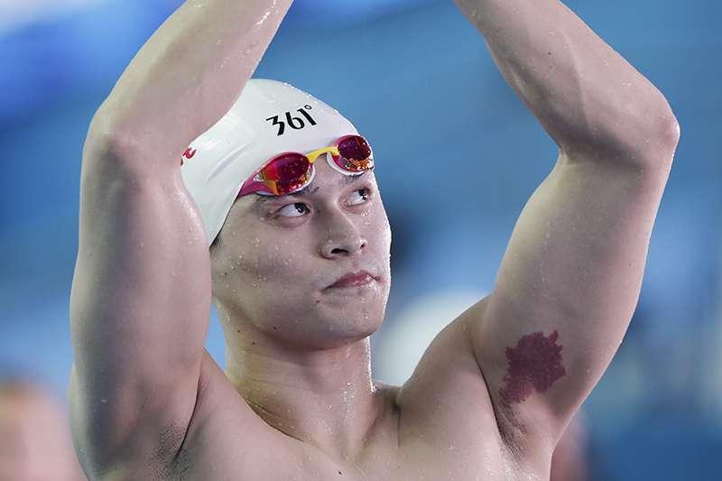 繼遭到英國及澳洲選手排擠之後,中國泳將孫楊這次受到巴西選手的無視。(美聯社)
