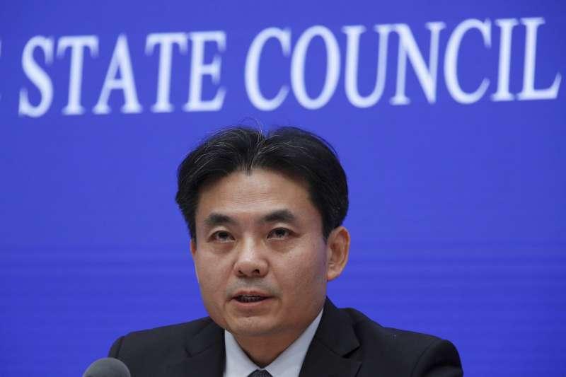 中國國務院港澳辦發言人楊光(AP)
