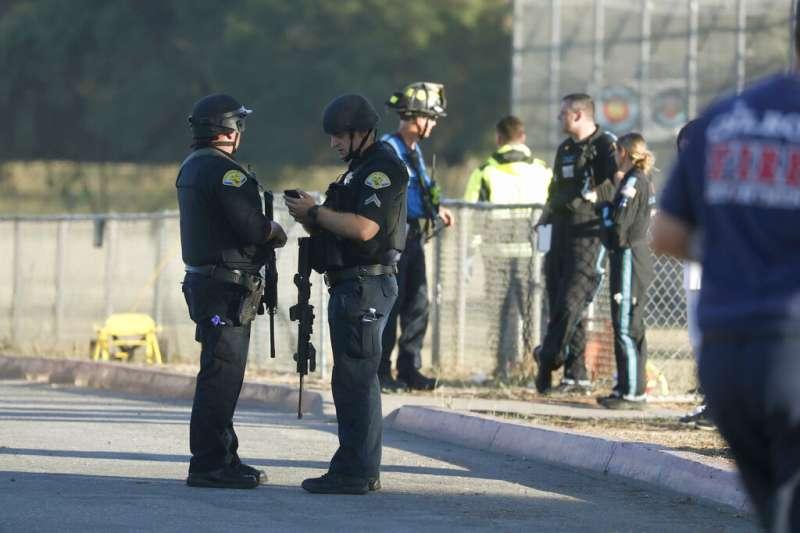 加州吉爾羅伊28日發生槍擊案。(美聯社)