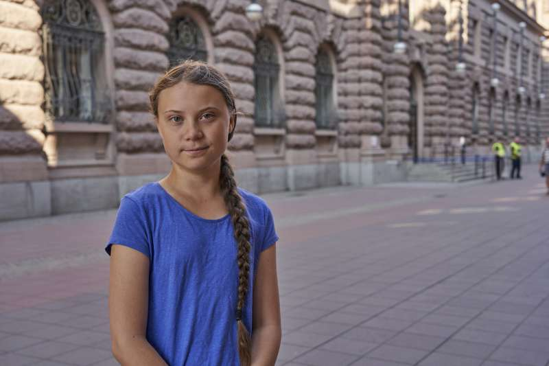 瑞典16歲少女通貝里為全球暖化危機奔走(美聯社)