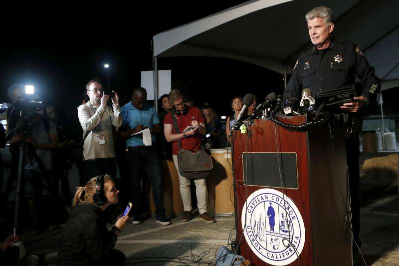 加州吉爾羅伊大蒜節槍擊案:警察局長史密席(AP)