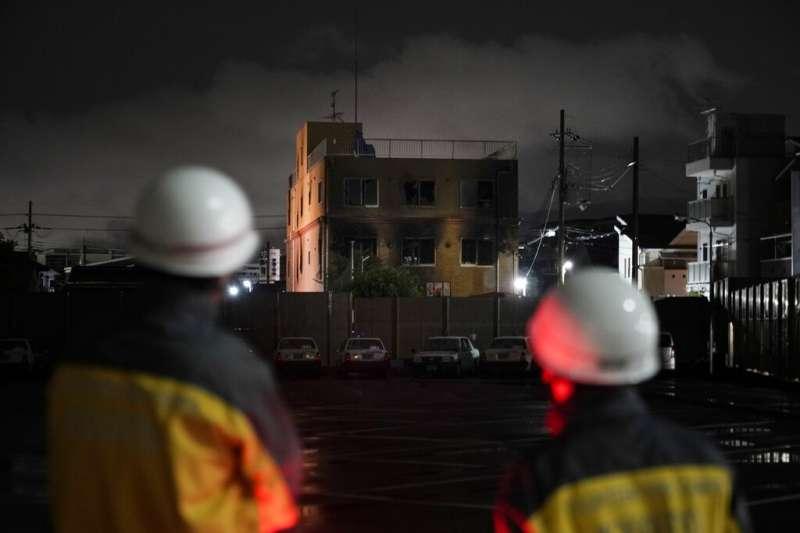 京都動畫第一工作室18日遭人惡意縱火,造成員工35死的悲劇。(美聯社)